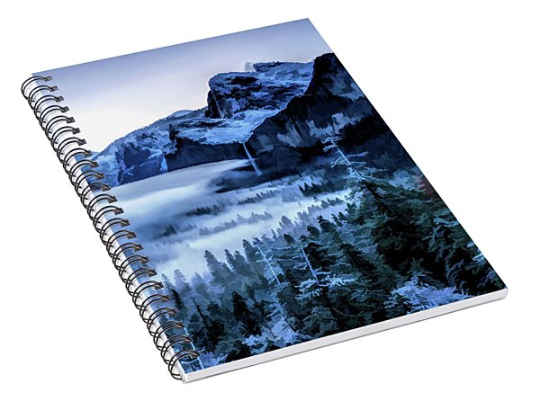 Yosemite National Park Tunnel View Snowy Morning Spiral Notebook