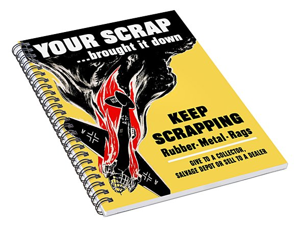 Your Scrap Brought It Down  Spiral Notebook