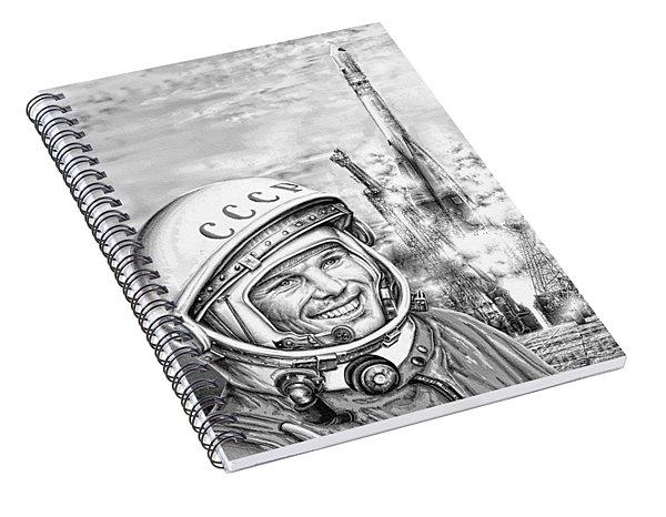 Yuri Gagarin - Cosmonaut 1961 Spiral Notebook