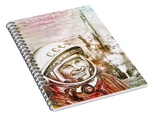 Yuri Gagarin - Cosmonaut 1961 Watercolor Spiral Notebook
