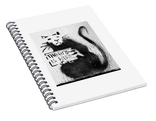 Banksy Rat The End Is Here Spiral Notebook