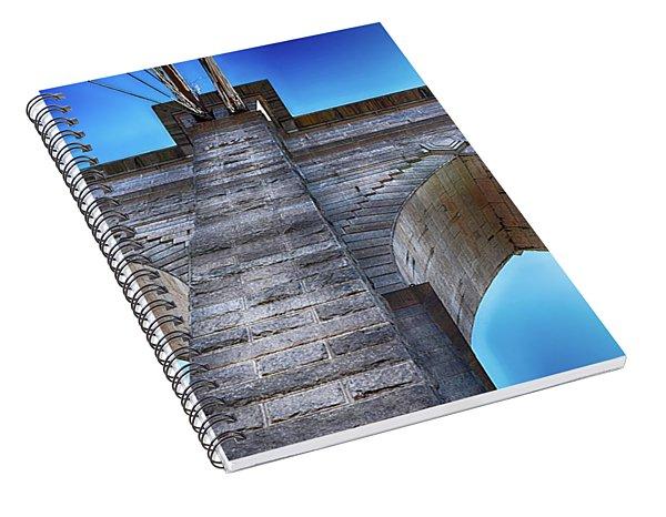 Brooklyn Bridge Tower Spiral Notebook