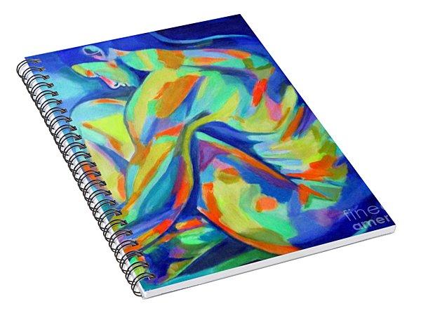 Glowing Silent Figure Spiral Notebook
