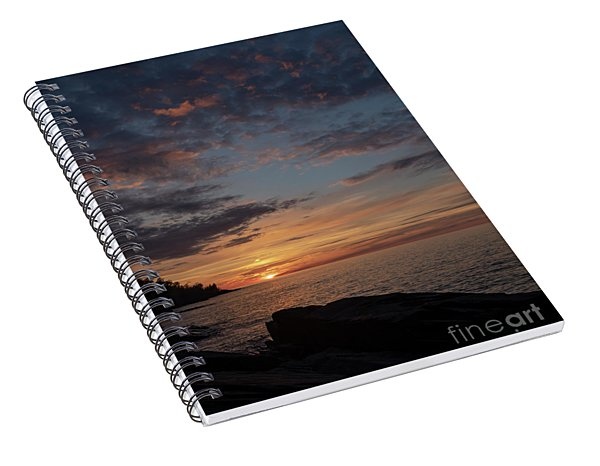 Lake Superior Sunset Spiral Notebook