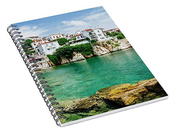 Old Town View Of Skiathos Island, Sporades, Greece.  Spiral Notebook