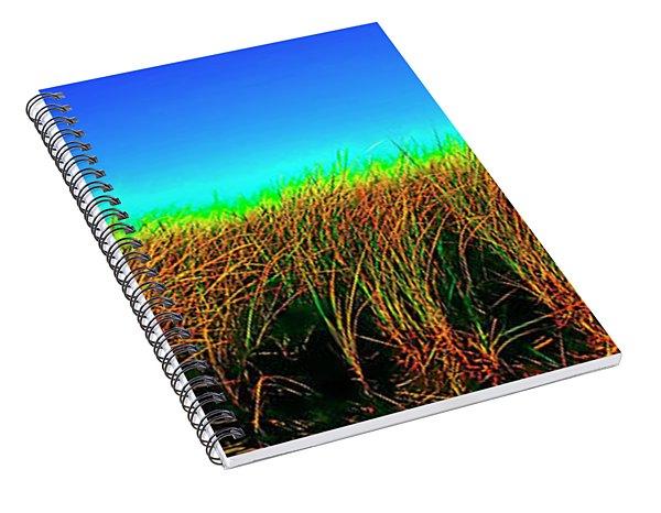 Wells Rachel Carson Wildlife Refuge Grass And Dunes Spiral Notebook