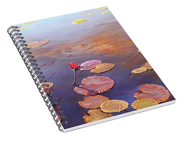 A Burst Of Red Spiral Notebook