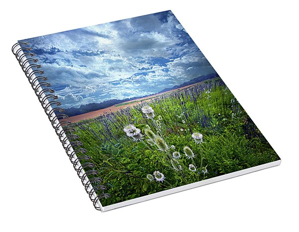 Spiral Notebook featuring the photograph A Chance Of Rain by Phil Koch