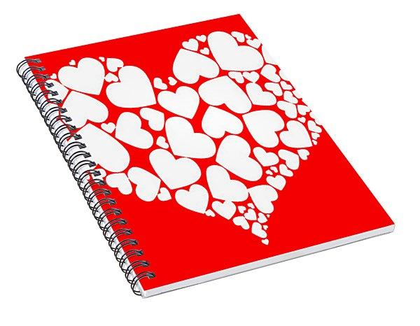 A Heart Full Of Love Romantic Pattern Spiral Notebook