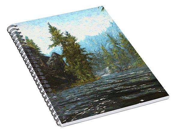 A River Flows Thru It Spiral Notebook