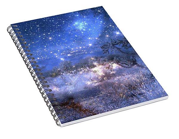 A Starry Night In The Desert Spiral Notebook