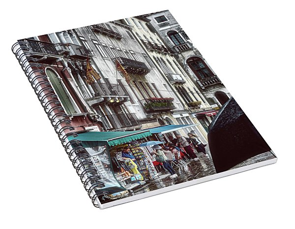 A Typical Venetian Day Spiral Notebook