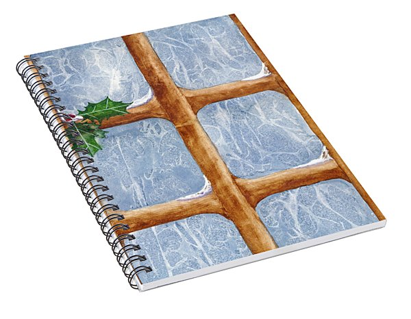 A Visit From Jack Frost Spiral Notebook