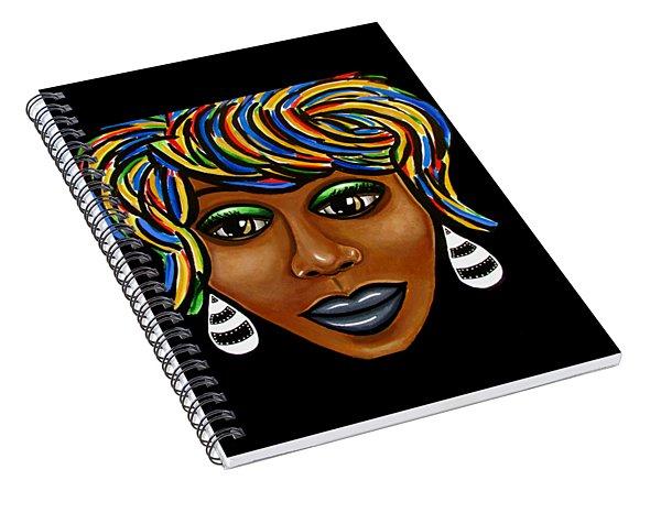 Abstract Glo - Black Woman Retro Pop Art - Ai P. Nilson Spiral Notebook