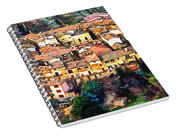Aerial View Of Ripa In Umbria Spiral Notebook