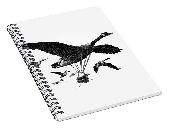 Aero Canada - Bw Spiral Notebook