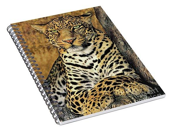 African Leopard Portrait Wildlife Rescue Spiral Notebook