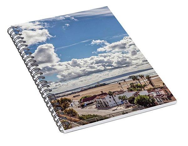 After The Rain - Santa Monica - Panorama Spiral Notebook