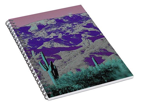 Alien Colors On Mount Lemmon Spiral Notebook