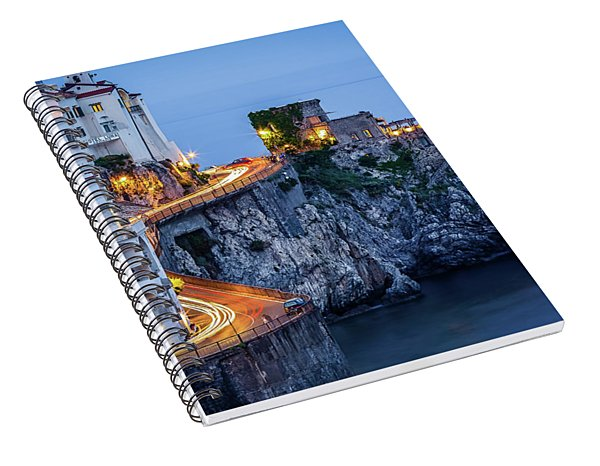 Spiral Notebook featuring the photograph Amalfi Coast Italy Nightlife by Nathan Bush