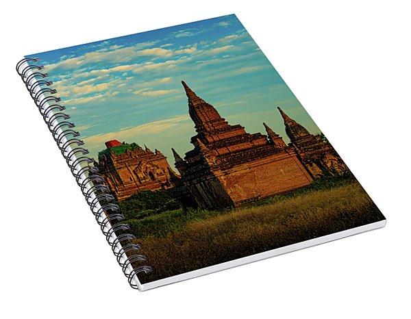 Ancient Stupas In Bagan Myanmar Spiral Notebook