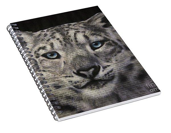 Art In The News 150- Snow Leopard Spiral Notebook