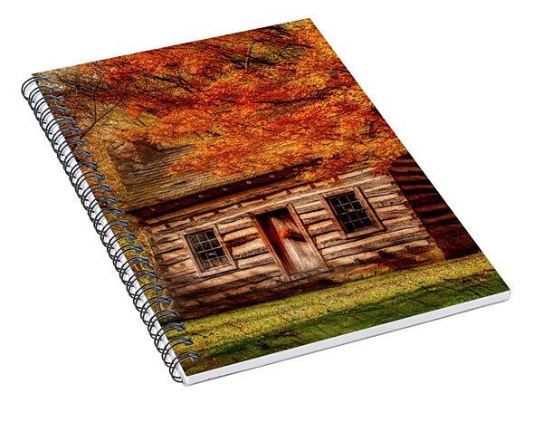 Artistic Log Cabin-fall Spiral Notebook
