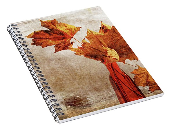 Spiral Notebook featuring the photograph Atumn In A Vase by Randi Grace Nilsberg