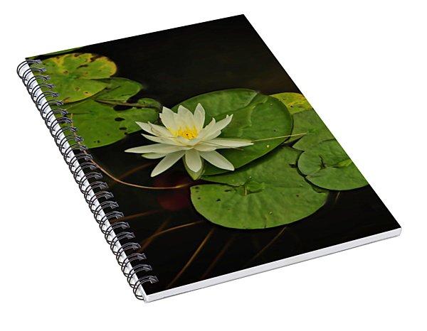 Bass Lake Water Lily Spiral Notebook