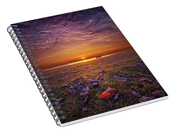 Spiral Notebook featuring the photograph Be The Light by Phil Koch