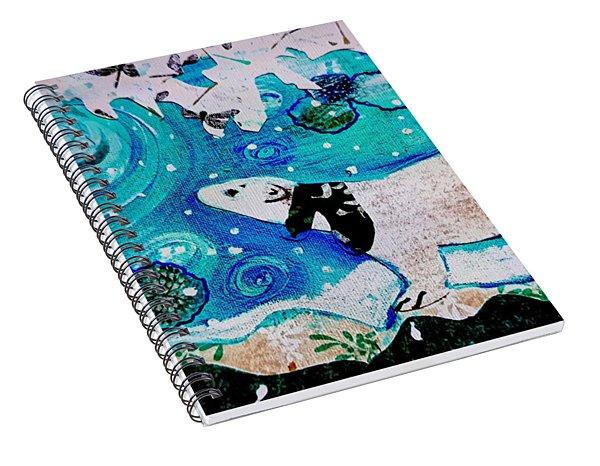 Bear And Moon Spiral Notebook