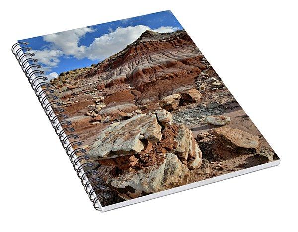 Beautiful Boulder And Dune In San Rafael Desert Spiral Notebook