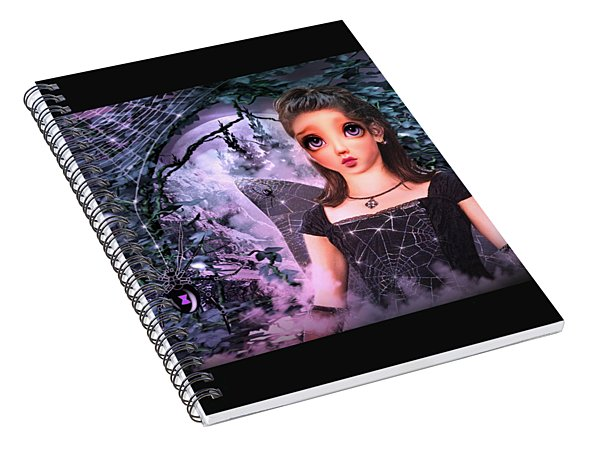 Black Widow Princess Spiral Notebook