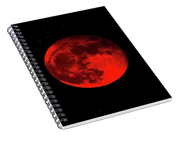 Blood Red Wolf Supermoon Eclipse 873a Spiral Notebook