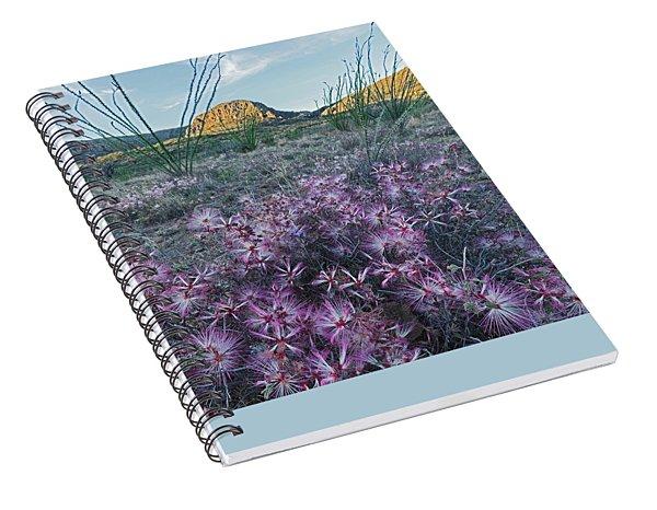 Blue Fairy Duster Spiral Notebook