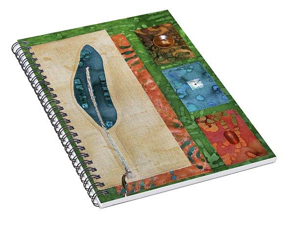Blue Feather Spiral Notebook