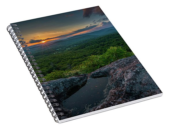 Blue Ridge Mountain Sunset Spiral Notebook
