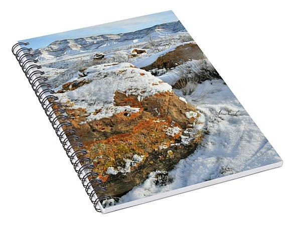 Book Cliffs Boulders And Fresh Snow Spiral Notebook