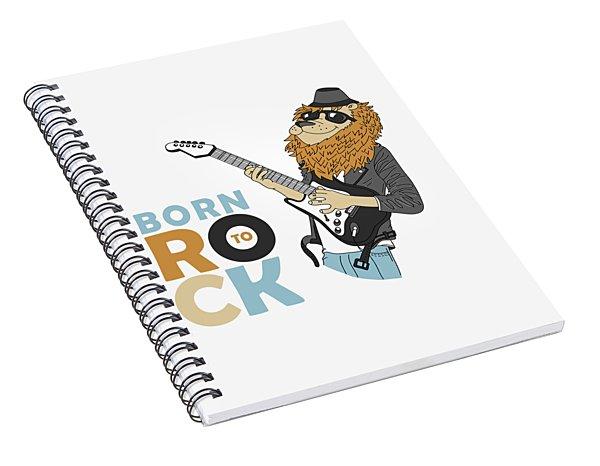 Born To Rock - Baby Room Nursery Art Poster Print Spiral Notebook