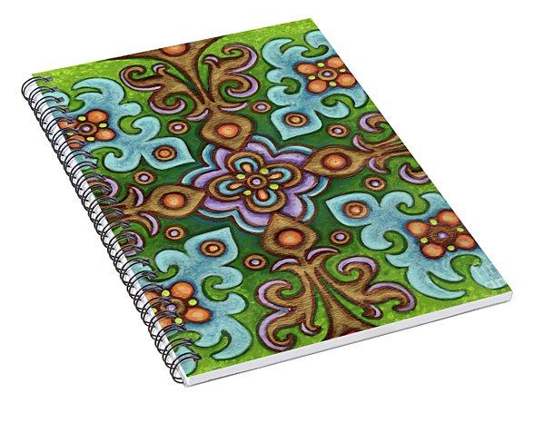 Botanical Mandala 4 Spiral Notebook