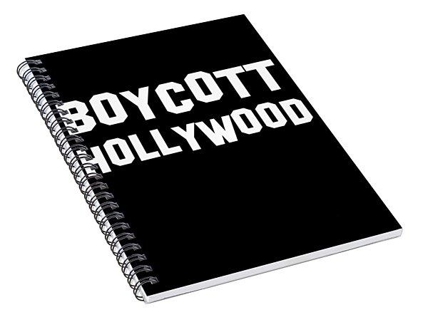 Boycott Hollywood Spiral Notebook