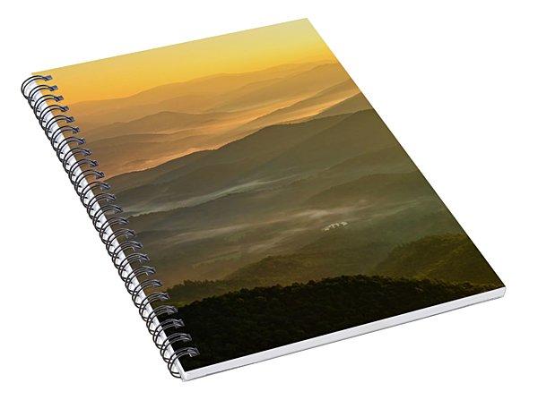 Brasstown Bald Mists Spiral Notebook