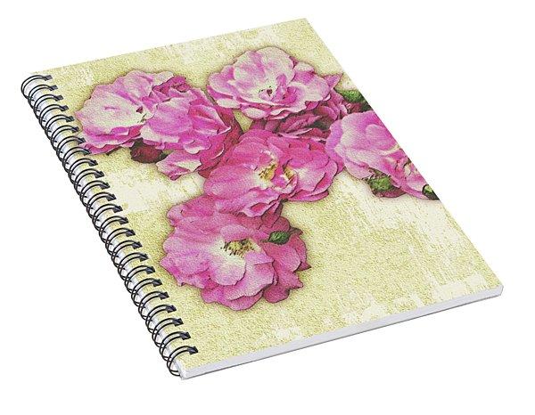 Bush Roses Painted On Sandstone Spiral Notebook