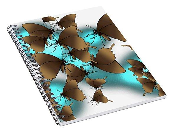 Butterfly Patterns 9 Spiral Notebook