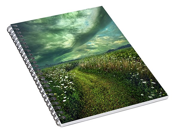 Spiral Notebook featuring the photograph By The By by Phil Koch
