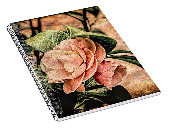 Camellia Grunge Spiral Notebook