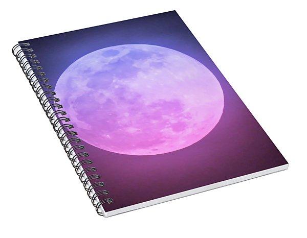 Cancer Super Wolf Blood Moon Near Eclipse Spiral Notebook