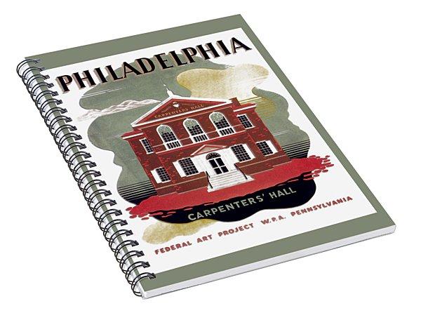 Carpenter Hall - Philadelphia - Remastered Spiral Notebook