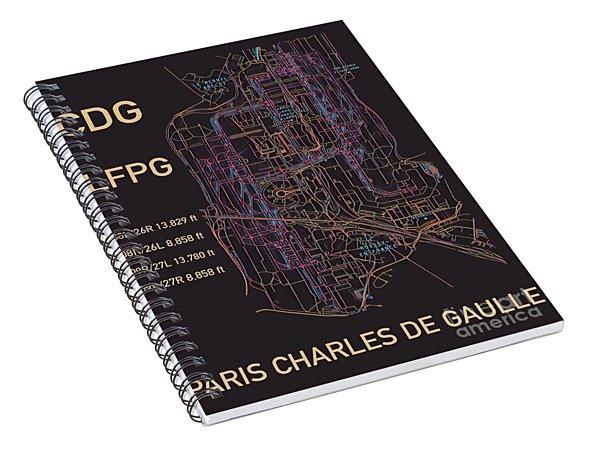 Cdg Paris Airport Spiral Notebook