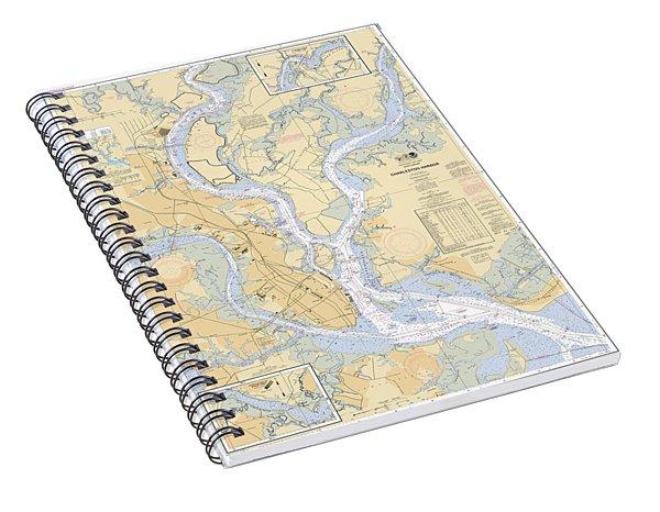 Charleston Harbor, Noaa Chart 11524 Spiral Notebook